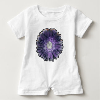 Purple Rain gerbera Baby Bodysuit