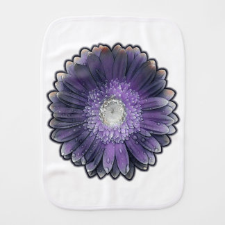Purple Rain gerbera Baby Burp Cloth