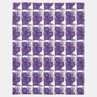 Purple Rain Gerbera Daisy Flower Bouquet Fleece Blanket