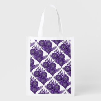 Purple Rain Gerbera Daisy Flower Bouquet Reusable Grocery Bag