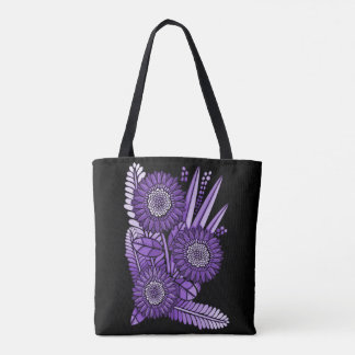Purple Rain Gerbera Daisy Flower Bouquet Tote Bag