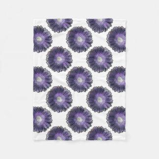 Purple Rain gerbera Fleece Blanket