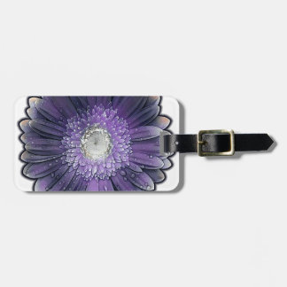 Purple Rain gerbera Luggage Tag