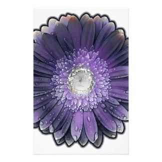 Purple Rain gerbera Personalized Stationery