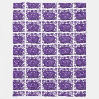 Purple Rain Spidery Pumpkin Fleece Blanket
