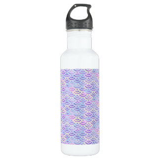 Purple Rainbow Mermaid Pastel Pattern 710 Ml Water Bottle