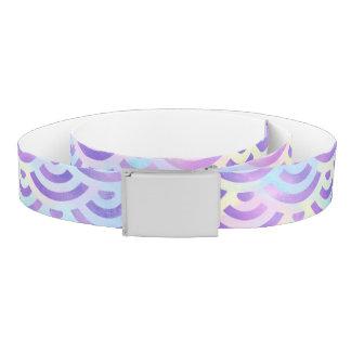 Purple Rainbow Mermaid Pastel Pattern Belt