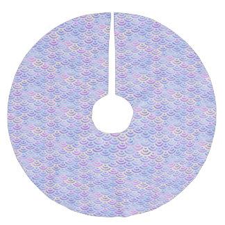 Purple Rainbow Mermaid Pastel Pattern Brushed Polyester Tree Skirt