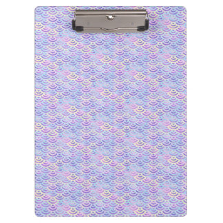 Purple Rainbow Mermaid Pastel Pattern Clipboard
