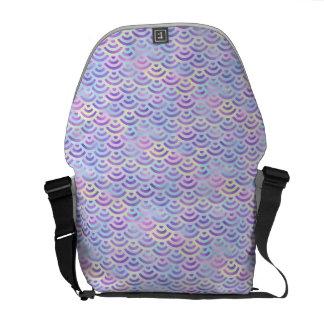 Purple Rainbow Mermaid Pastel Pattern Courier Bag