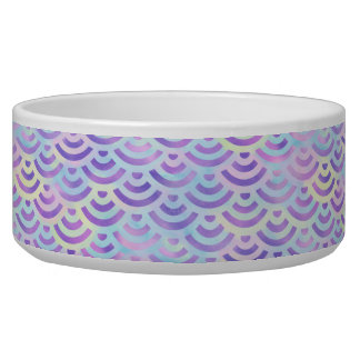 Purple Rainbow Mermaid Pastel Pattern Dog Food Bowl