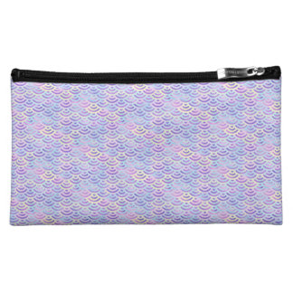 Purple Rainbow Mermaid Pastel Pattern Makeup Bag