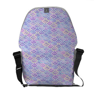 Purple Rainbow Mermaid Pastel Pattern Messenger Bag