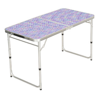 Purple Rainbow Mermaid Pastel Pattern Pong Table