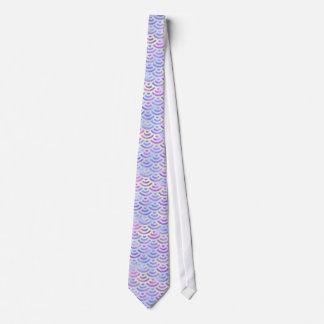 Purple Rainbow Mermaid Pastel Pattern Tie