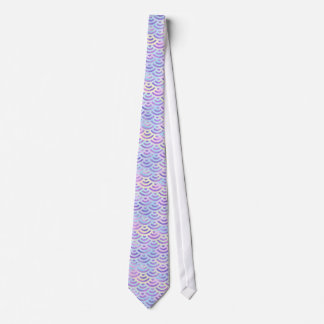 Purple Rainbow Mermaid Pastel Pattern Tie
