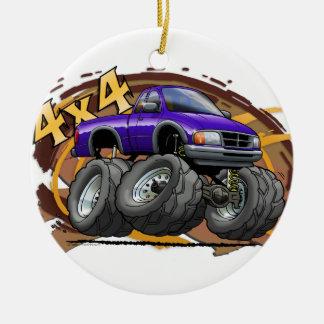 Purple Ranger Ceramic Ornament