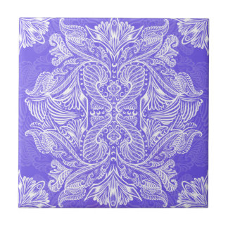 Purple, Raven of mirrors, dreams, bohemian Ceramic Tile