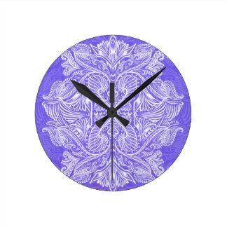 Purple, Raven of mirrors, dreams, bohemian Round Clock