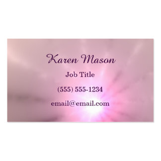 Purple Ray of Light Pack Of Standard Business Cards