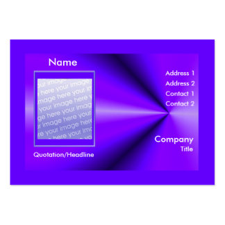 Purple Rays - Chubby Size (photo frame) Pack Of Chubby Business Cards