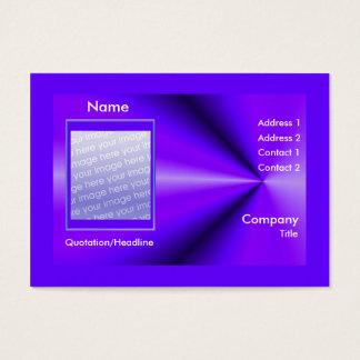 Purple Rays - Chubby Size (photo frame) Business Card