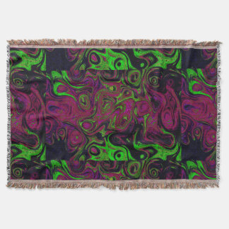 Purple, Red and Green Fire Stone Throw Blanket