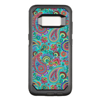 Purple Red And Yellow Paisley OtterBox Commuter Samsung Galaxy S8 Case