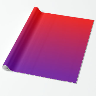 Purple Red Gradient Wrapping Paper