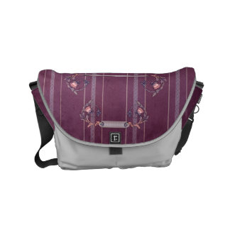 Purple Red Liberty Upholstery Small Bag Courier Bags