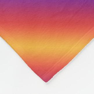 Purple Red Orange Gradient Stripes Fleece Blanket