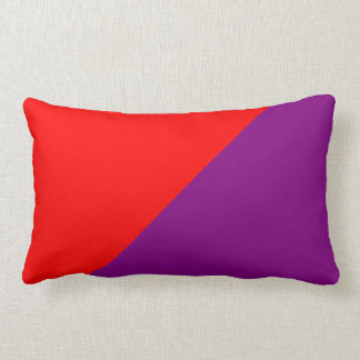 Purple & Red Solid Colour Background Lumbar Cushion