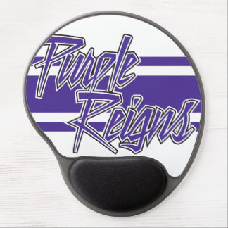 Purple Reigns N-Stripe on Mouse Mats - Gel Mouse Pad
