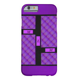Purple Repeating Background Barely There iPhone 6 Case