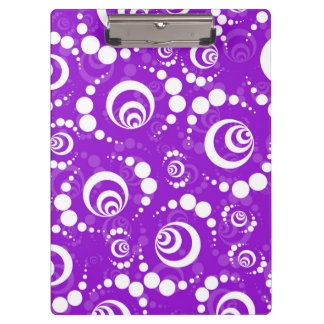 Purple Retro Crop Circle Clipboard