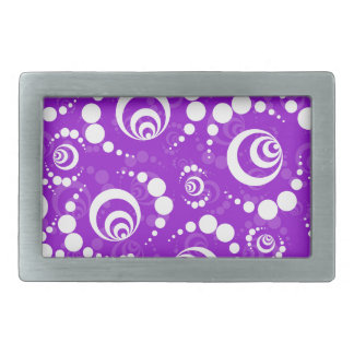 Purple Retro Crop Circles Belt Buckle