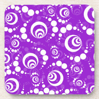 Purple Retro Crop Circles Coasters