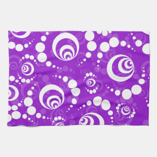Purple Retro Crop Circles Hand Towels