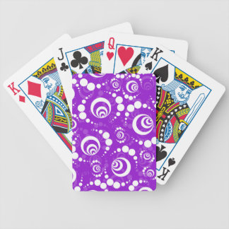 Purple Retro Crop Circles Poker Deck
