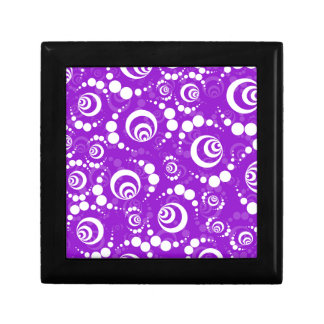 Purple Retro Crop Circles Small Square Gift Box