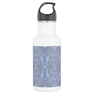 Purple retro floral pattern 532 ml water bottle