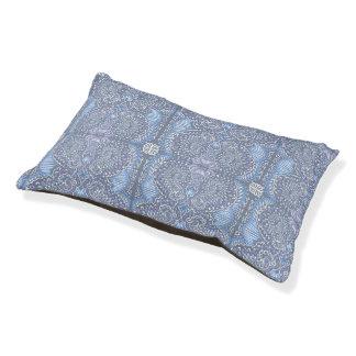 Purple retro floral pattern pet bed