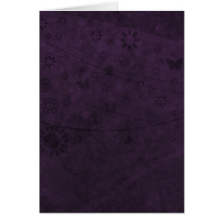 Purple Retro Flowers and Butterflies Abstract Stationery Note Card