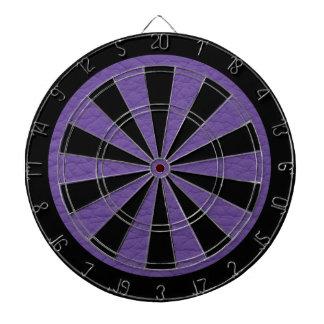 Purple Retro Grunge Custom Leather Dartboard