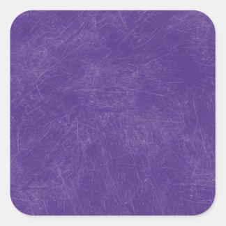 Purple Retro Grunge Scratched Texture Square Sticker