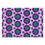Purple Retro Mandala Pattern