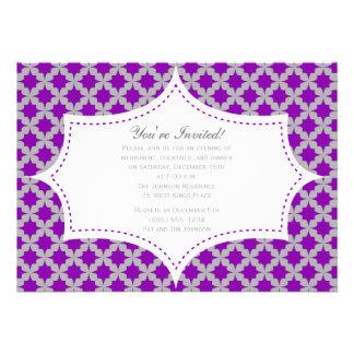 Purple Retro Star Invitation