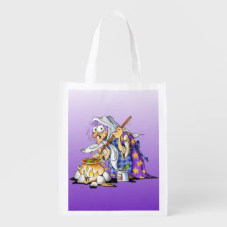 Purple Reusable Halloween Treat Bags With Witch