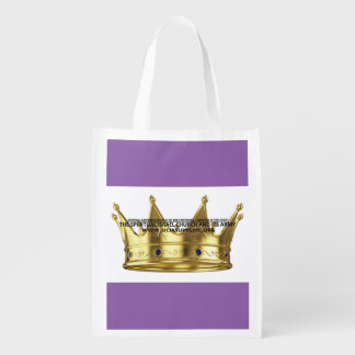 PURPLE - REUSABLE TOTE BAG -  DURABLE & AFFORDABLE