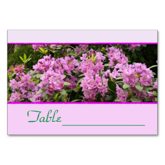 Purple Rhododendron Tablecard Card